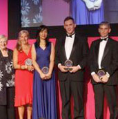 the winners of the Dignity in Care Awards 2014